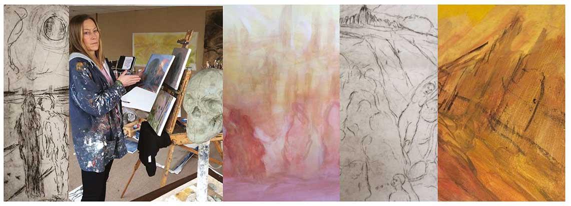 Galleri Langegården, Scapes & skulls,  new paintings & prints