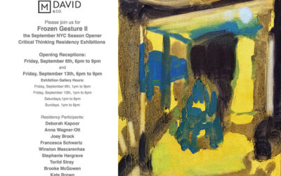 Please join us for the opening in NY Sept 6th