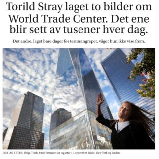 Torild Stray laget to bilder om World Trade Center.