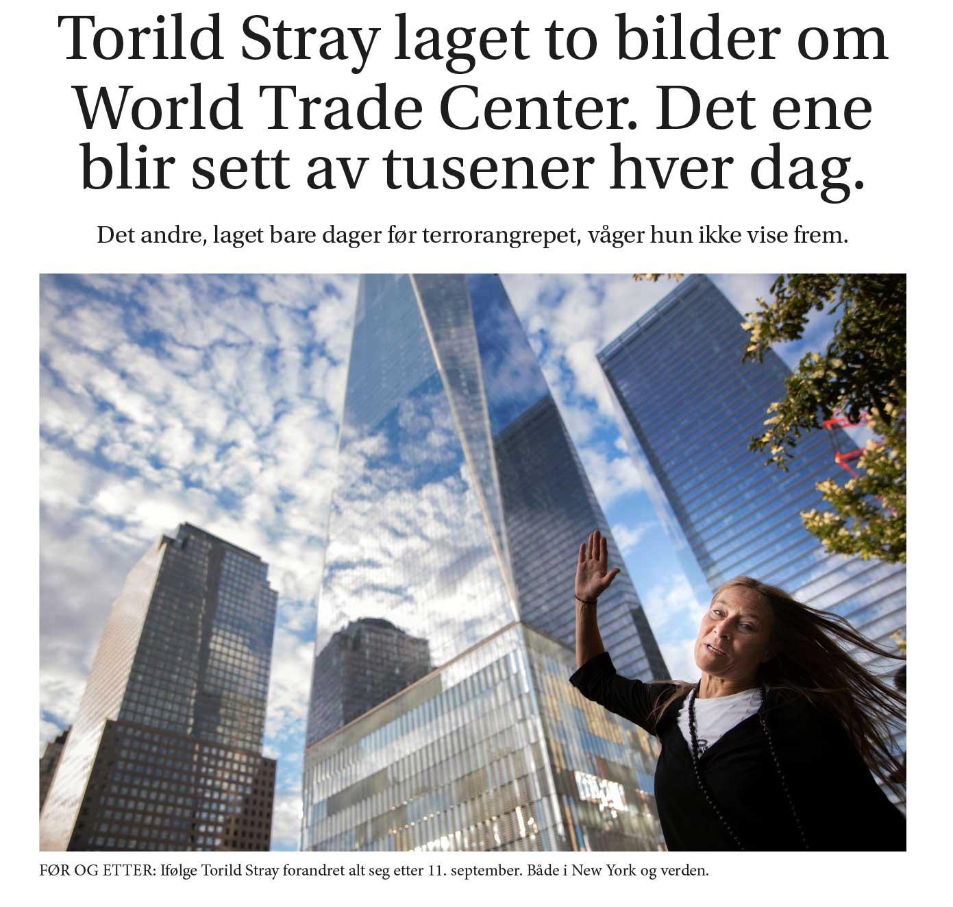 Torild Stray laget to bilder om World Trade Center.